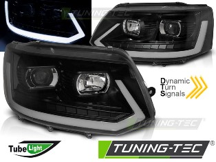 Оптика альтернативная передняя Tuning-Tec Tube Light T6 Look Volkswagen T5 (2010-2015) хром