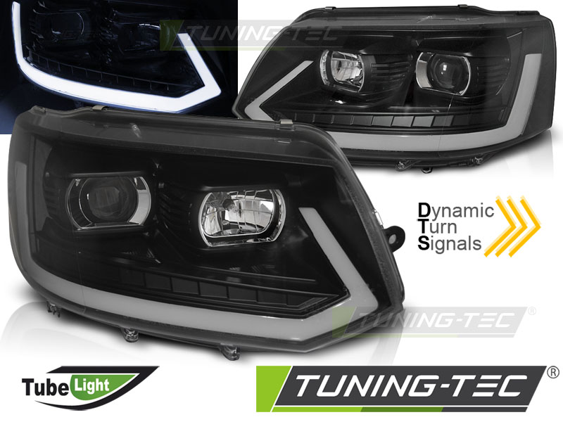 Оптика альтернативная передняя Tuning-Tec Tube Light T6 Look Volkswagen T5 (2010-2015) хром ― Styling-Parts