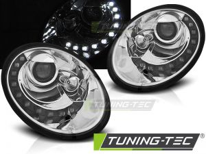 Оптика альтернативная передняя Tuning-Tec LED Volkswagen New Beetle (2006-2012) хром
